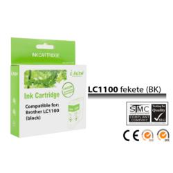 Brother -höz, i-Aicon magas minőségű LC980/LC1100 Bk (fekete) utángyártott tintapatron