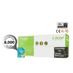 Brother -höz TN-3380 magas minőségű i-AICON fekete utángyártott toner (8000 oldalas)