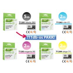 Epson -hoz 11db-os◄ i-Aicon magas minőségű T128x  utángyártott tintapatron irodapakk