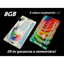 8GB-os pendrive dokumentumaidnak, fotóidnak, videóidnak
