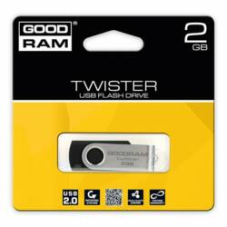 "Pendrive, 2GB, USB 2.0, GOODRAM ""Twister"", fekete ►20/5MB/sec"