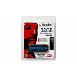 """Pendrive, 32GB, USB 3.0, VÍZálló, ÜTÉSálló, KINGSTON """"DT R30"""", kék-fekete ►120/50MB/sec"""