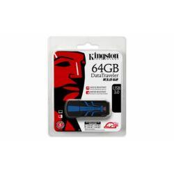 """Pendrive, 64GB, USB 3.0, VÍZálló, ÜTÉSálló, KINGSTON """"DT R30"""", kék-fekete ►120/50MB/sec"""