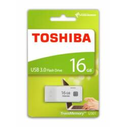 Pendrive, 16GB, USB 3.0, TOSHIBA TransMemory, fehér (U301) ►30/10MB/sec