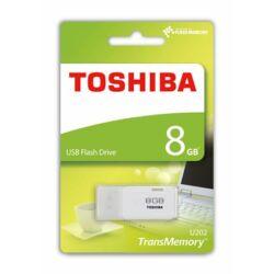 Pendrive, 8GB, USB 2.0, TOSHIBA TransMemory, fehér (U202) ►18/5MB/sec