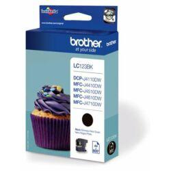 Brother LC123 Bk (fekete) eredeti tintapatron