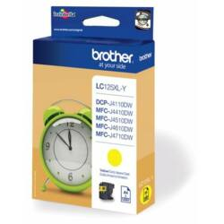 Brother LC125 Y (sárga) eredeti tintapatron