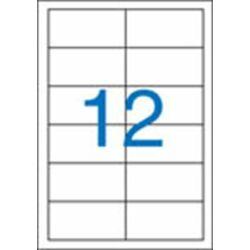 2 pályás etikett, 97x42,4 mm, 1200 etikett/csomag VICTORIA