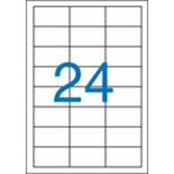 3 pályás etikett, 64,6x33,8 mm, 2400 etikett/csomag VICTORIA
