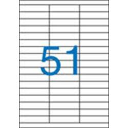 3 pályás etikett, 70x16,9 mm, 5100 etikett/csomag VICTORIA