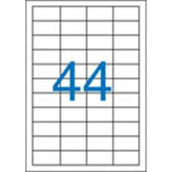 4 pályás etikett, 48,5x25,4 mm, 4400 etikett/csomag VICTORIA