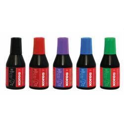 Bélyegzőfesték, 27 ml, KORES, piros