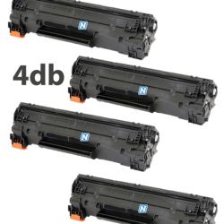 HP -hoz 4db-os utángyártott CF283A fekete toner pakk