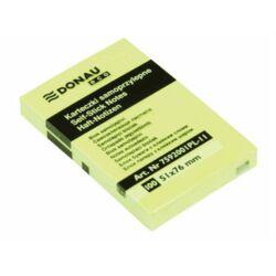 DONAU 51x76 mm öntapadó jegyzettömb pasztell sárga 100 lap