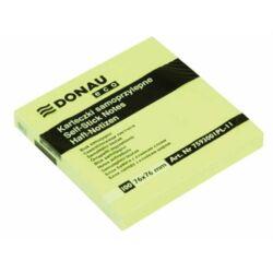 DONAU 76x76 mm öntapadó jegyzettömb pasztell sárga 100lap