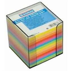 DONAU színes kockatömb adagolóval 83x83x75 mm