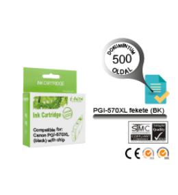Canon -hoz, i-AICON™ PGI-570XL BK (fekete) CHIPES utángyártott tintapatron (~500 oldal, 22ml)