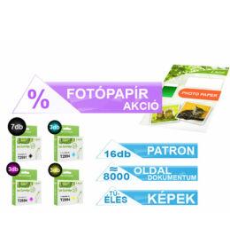 ►16+1db-os PAKK, Epson -hoz 16db T299x (Nr. 29XL) i-AICON utángyártott tintapatron (≈8000 oldal)  + 1 csomag 100 lapos FOTÓpapír