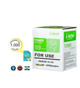 Xerox® nyomtatóhoz, i-AICON™ 6110 Y sárga utángyártott toner (~1000 oldal) 106R1204   ►!!!KIFUTÓ◄