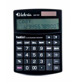 """Számológép, asztali, 12 számjegy, 2 soros, VICTORIA """"GVA-7422"""", fekete"""