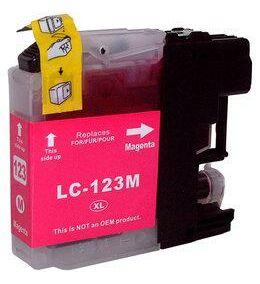 Brother nyomtatóhoz LC123 M (magenta) utángyártott tintapatron