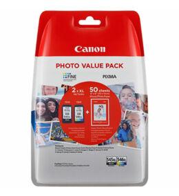 Canon® PG-545XL/CL-546XL eredeti (fekete+színes) tintapatron multipakk+50db fotópapír, ~400/300 oldal