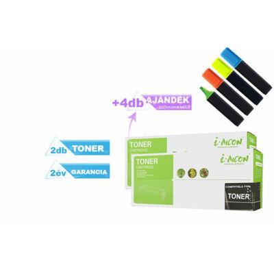 2+4 DB-os PAKK ►Xerox -hoz 3020/3025 fekete utángyártott toner ►+4 db ajándék szövegkiemelő (2X~1500 oldal) 106R02773