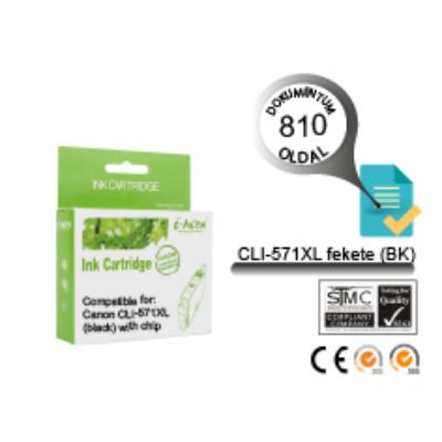 Canon -hoz, i-AICON™ CLI-571XL BK (fekete) CHIPES utángyártott tintapatron (~810 oldal, 13ml)