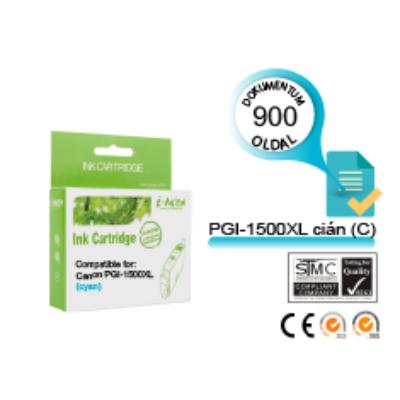 Canon -hoz i-AICON™ PGI-1500XL C (cián) CHIPES utángyártott tintapatron (~900 oldal, 14ml)
