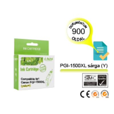 Canon -hoz i-AICON™ PGI-1500XL Y (sárga) CHIPES utángyártott tintapatron (~900 oldal, 14ml)