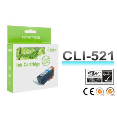 Canon -hoz, i-Aicon  CLI-521C cián !CHIPES! utángyártott tintapatron ~300 oldalas (CLI521)