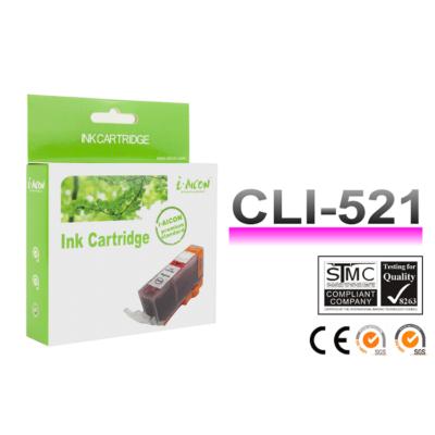 Canon -hoz, i-Aicon  CLI-521M magenta CHIPES utángyártott tintapatron (CLI521)