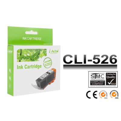 Canon -hoz, i-Aicon  CLI-526 Bk (fekete) utángyártott tintapatron !CHIPES! (~450 oldalas)