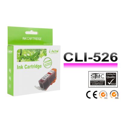 Canon -hoz, i-Aicon  CLI-526 M (magenta) utángyártott tintapatron !CHIPES! ~450 oldalas (cli526m)
