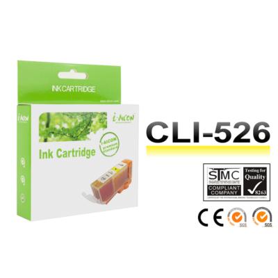 Canon -hoz, i-Aicon CLI-526 Y (sárga) utángyártott tintapatron !CHIPES! (cli526y)