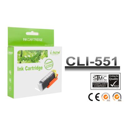 Canon -hoz, i-Aicon  CLI-551XL GY (szürke) utángyártott chipes tintapatron (~660 oldalas)