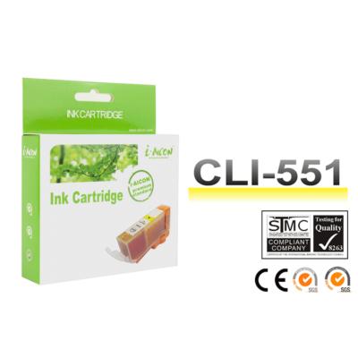 Canon -hoz, i-Aicon CLI-551XL Y (sárga) utángyártott !CHIPES! tintapatron (~660 oldal)