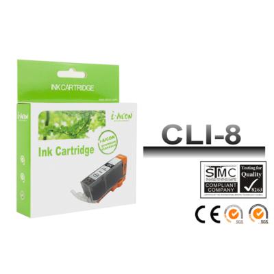 Canon -hoz, CLI8BK, CLI-8BK ! CHIPES ! fekete utángyártott tintapatron (~500 oldalas)