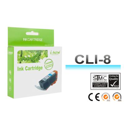 Canon -hoz, i-Aicon  CLI8C, CLI-8C ! CHIPES ! cián utángyártott tintapatron (~500 oldalas)
