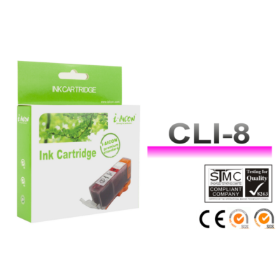Canon -hoz, i-Aicon  CLI8M, CLI-8M ! CHIPES ! magenta utángyártott tintapatron (~500 oldalas)