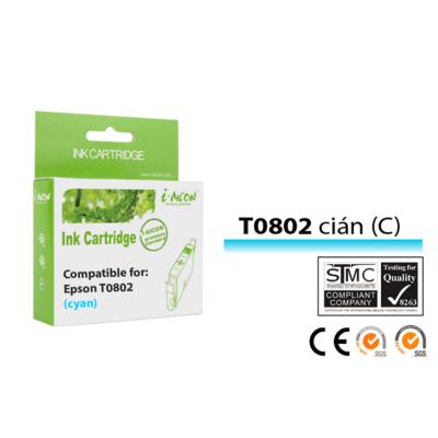 Epson -hoz, T0802 C cián kompatibilis tintapatron (T0792) (≈400oldal)
