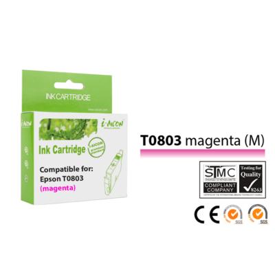 Epson -hoz, T0803 M magenta kompatibilis tintapatron (T0793) (≈400oldal)