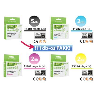 Epson -hoz 11db-os◄ i-Aicon  T128x  utángyártott tintapatron irodaPAKK  (≈3300oldal)