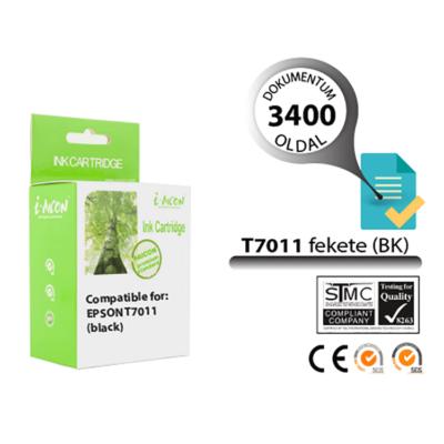 Epson -hoz, T7011 XXL fekete utángyártott tintapatron (~3400 oldalas)