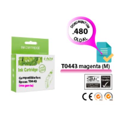 Epson -hoz T0443 magenta (M) i-AICON utángyártott tintapatron (To443) (≈480oldal)