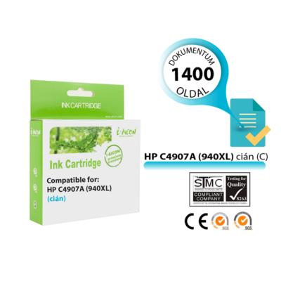HP -hez i-Aicon  Nr.940XL (C4907A) utángyártott cián tintapatron, ~1400 oldal
