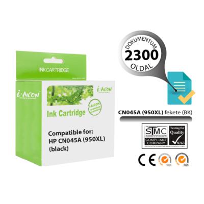 HP -hez i-Aicon  Nr.950XL (CN045A) utángyártott fekete tintapatron, ~2300 oldal
