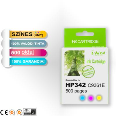HP -hez Nr.342 (C9361E) i-AICON utángyártott színes tintapatron, ~500 oldal