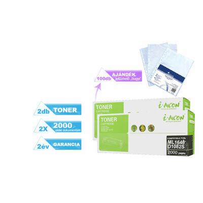 2+1DB-os PAKK, Samsung -hoz ►ML1640/2240 utángyártott toner◄ +1 csomag (100db) lefűzhető genotherm (bugyi)   D1082S (2X~2000 oldal)