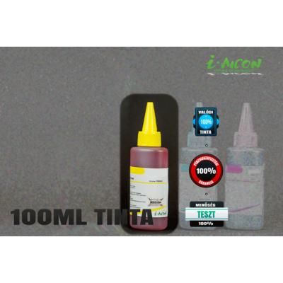 SÁRGA színű 100 ml-es univerzális utántöltő i-AICON™ tinta  Brother, Canon, Epson, HP, Lexmark tintapatronokhoz